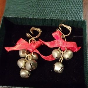 Christmas clip on bells earrings